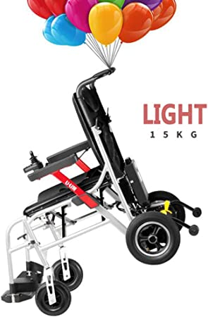 Amazon.com: SZeao - Silla de ruedas eléctrica plegable ...
