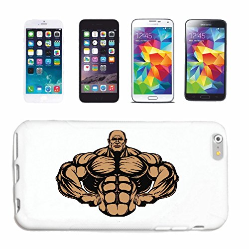 "cas de téléphone iPhone 7+ Plus ""Musculation bodybuilder GYM GYM muskelaufbau SUPPLEMENTS WEIGHTLIFTING BODYBUILDER"" Hard Case Cover Téléphone Covers Smart Cover pour Apple iPhone en blanc"