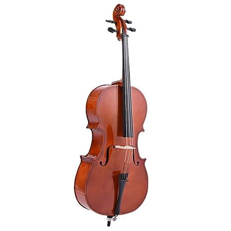 Ammoon 1/2 para violonchelo de madera acabado brillante ...