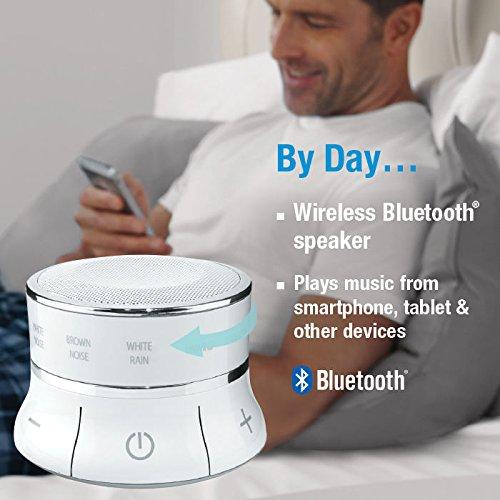 Brookstone Moments Sleep Machine Bluetooth Speaker, White, 0.5 Pound