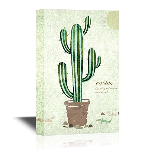 Retro Style Cactus