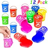 Slime Assortment for Kids, Comes in Paint Slime Containers, Pack of 12, Assorted Colors, Looks Realistic, 6 Different Colors, Putty & Slime, Great Children Party Favor, Birthday Party Gift for kids, K