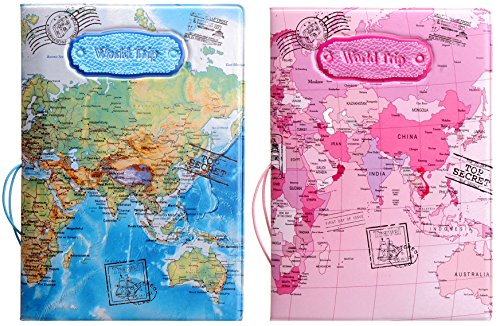 Set of 2 Passport Covers Passport Holder Case RFID Blocking Travel Gifts For Men...