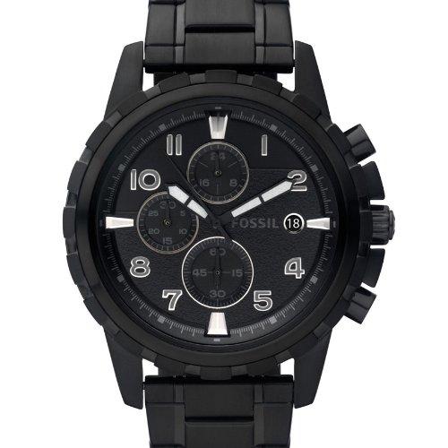 Fossil FS4646 - Reloj analógico de cuarzo para hombre con correa de acero inoxidable bañado, color negro: Fossil: Amazon.es: Relojes