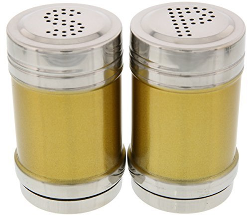 Stainless Steel Salt and Pepper Shakers - Gold Salt and Pepper Shakers - 3 Inch Shakers