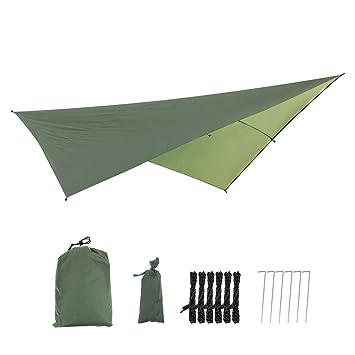 Waterproof Camping Tent Tarp Shelter Hammock Awning Sun Shade Rain Fly Cover