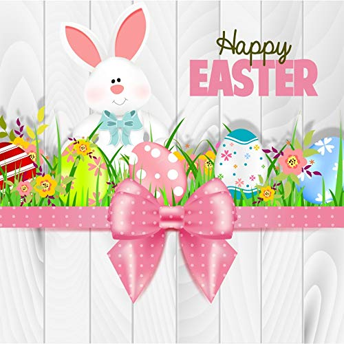 - OFILA Easter Backdrop 6x6ft Painted Eggs Photography Background Easter Bunny Eggs Hunt Events Holidays Party Kids Easter Photobooth Children Easter Shoots School Activity Video Props