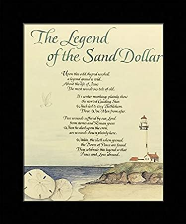 image relating to Legend of the Sand Dollar Poem Printable named : Black 1 inch Framed with The Software of The Find out
