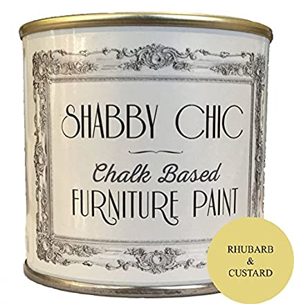 0b95f31b Rhubarb & Custard Shabby Chic Chalk Based Furniture Paint 250ml:  Amazon.co.uk: Kitchen & Home
