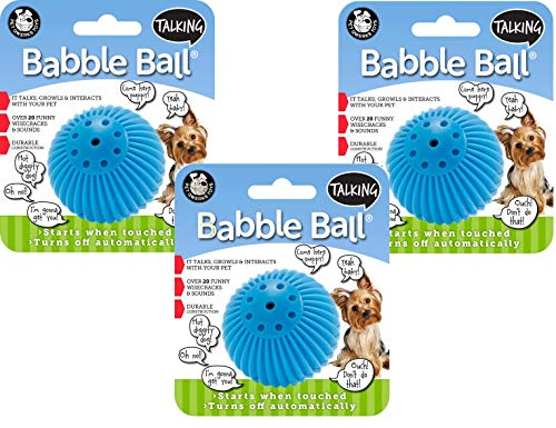 Pet Qwerks 3 Pack of Small Talking Babble Ball Dog Toys ()