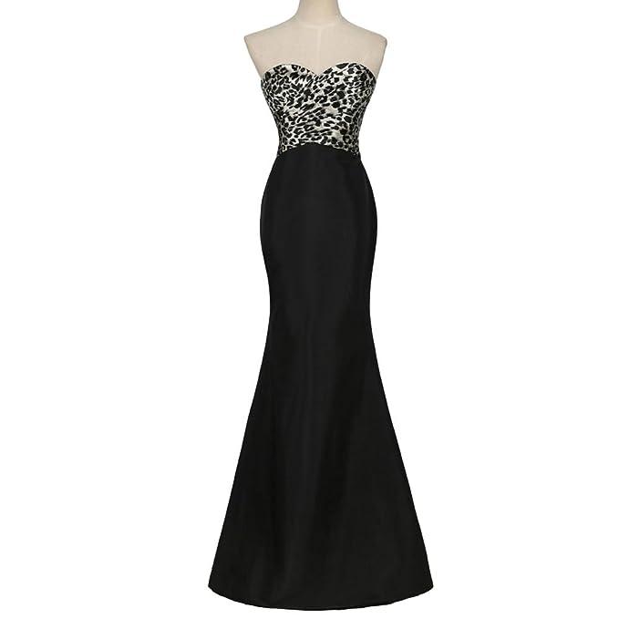 5e24169f854 100% Real Sample Strapless Abendkleider 2016 Grace Karin Long Black Mermaid  Prom Dresses Leopard Bandage Formal Dinner Gown  Amazon.ca  Clothing   ...