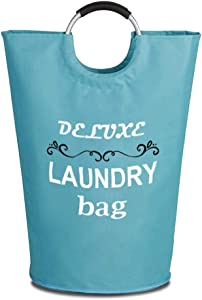 Brieftons 115L Extra Large Laundry Basket, Collapsible Fabric Laundry Hamper Storage Bag, Foldable Clothes Tote with Aluminium Handles, Coin Pocket, Perfect for Washing, Storage & Organization Needs