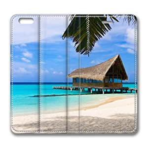 Bahamas beach vacation Standing Leather Smart Cover Case Exclusive for iPhone 6 Screen