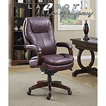 image replacement leather of desk medium parts boy costco black executive chair lazy la z office chairs modern size