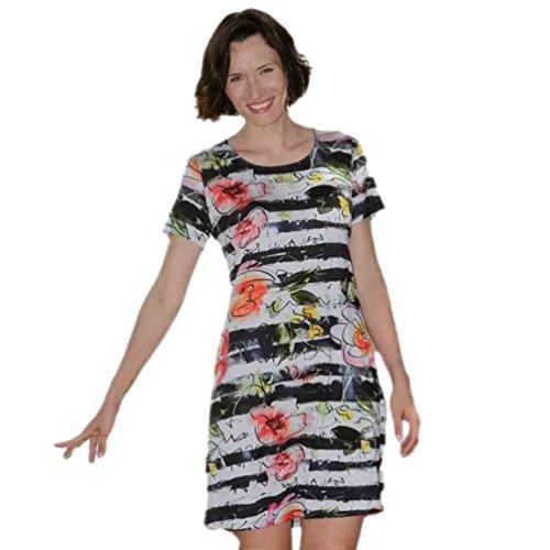 Massana vestido de manga corta estampado L187205 - NOCHE, M