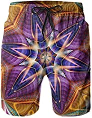 Summer Beach Shorts Trippy Kaleidoscope Psychedelic Swim Trunks Swimwear for Mens