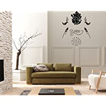 DreamKraft Happy Diwali Removable Wall Decor Art Stickers Vinyl Decals Home Decor for Living Room & Kids bedroom(36X36 Inch)