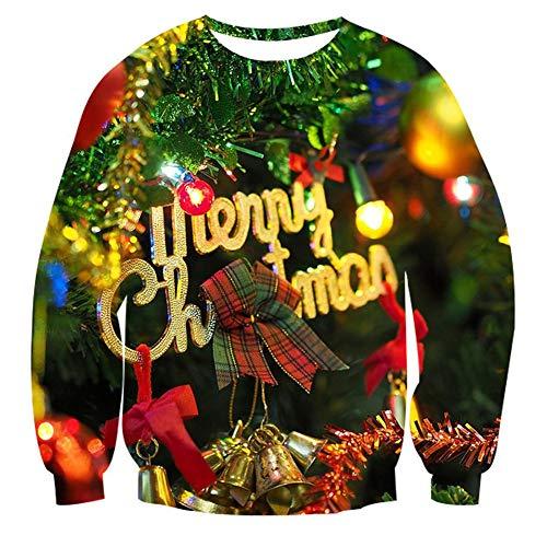 Goodstoworld Ugly Sweater for Women Couples Merry Christmas Sweatshirt