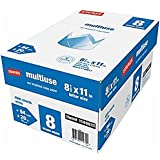 "Multiuse Multipurpose Copy Fax Inkjet & Laser Printer Paper, 8 1/2"" x 11"" Letter Size, 94 Bright White, 20 lb. Density, 500 sheets per ream; 8 reams per case (total of 4,000 sheets)"