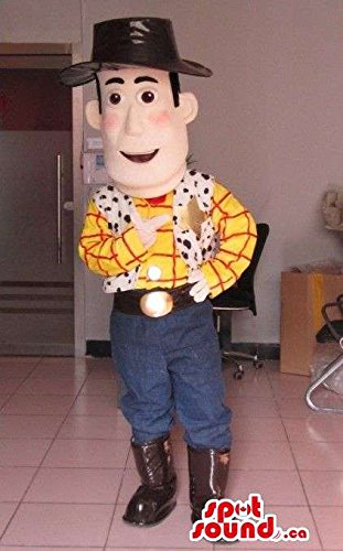 Toy Story Animation Movie Woody Cowboy Character Mascot SpotSound US