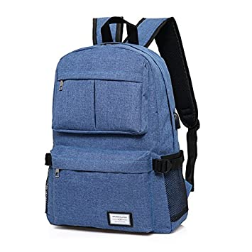Aeoss Laptop and Notebook Backpack for Men and Women Girls with USB Charging Port Fits 12-17 inch, Waterproof School Rucksack Business Daypack Travel College Backpack (Blue)