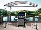 Abba Patio 9' x 5' Outdoor Backyard BBQ Grill Gazebo with Steel Canopy, Gray