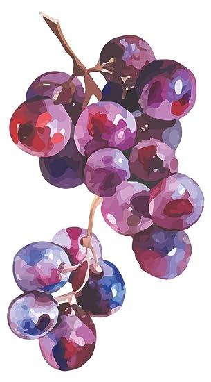 Wandtattoo Küche Obst Gemüse Wandtattoo Weintrauben Motiv mit intensiven  Farben