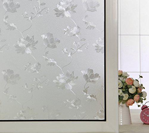 ABO No-Glue 3D Static Decorative Privacy Window Film, AW1005 ((17.7'x78.7'(45x200cm))