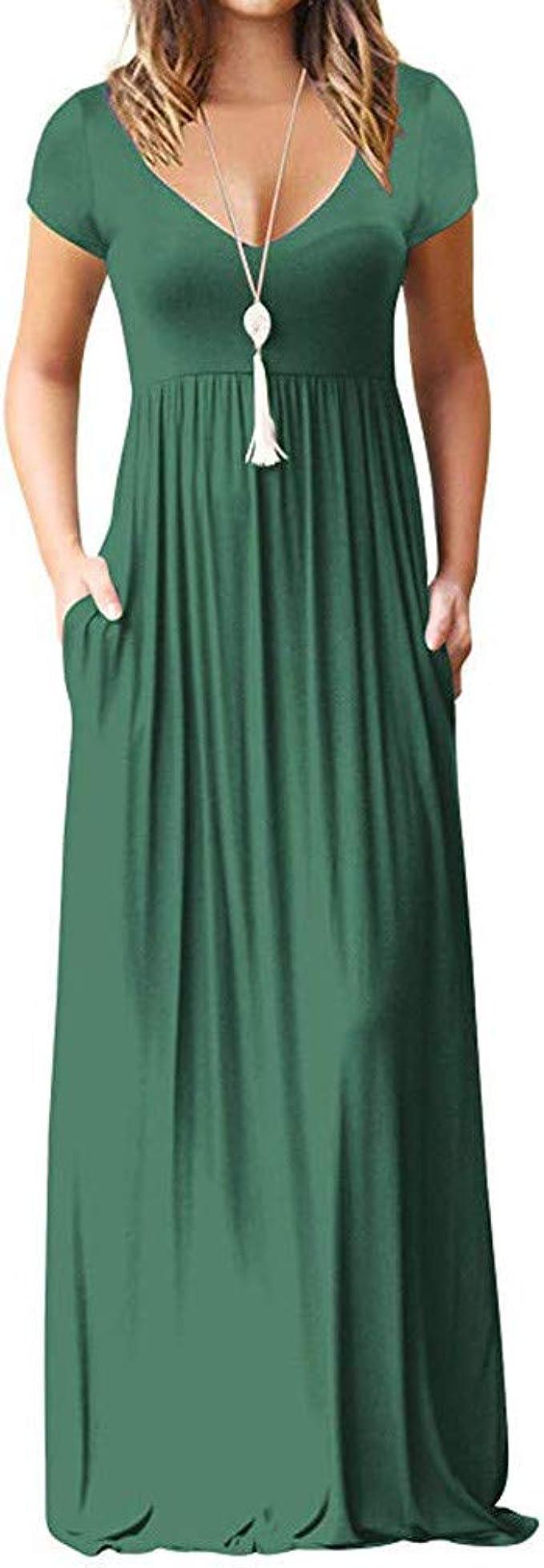 T Shirt Kleid Kleider Sommerkleid Damen Sommer Sexy Elegant V