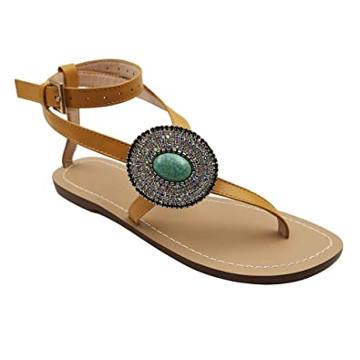 11790c41 Amazon.com: Women's Gladiator Sandals,Cross Tie Flat Sandals,Beach Sandals:  Shoes