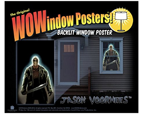 Window Costume (WOWindow Posters Jason Voorhees Friday the 13th Halloween Window Decoration includes 34.5