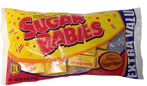 - Sugar Babies Candy Coated Milk Caramels in Mini Boxes, 4oz Net Weight