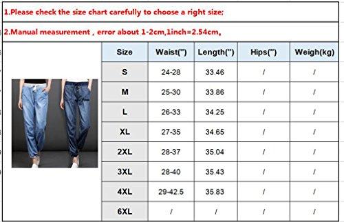 Denim 3L 2XL Femme Hibote Pantalon Bleu 4XL Pantalon L Pantalon Doux Jeans Lache XL Confortable Sarouel Dcontract M Long S aXgxngqT5w