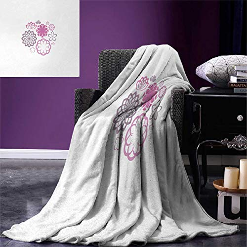 - Anniutwo Dahlia Super Soft Blanket Hypotrochoid Style Flower Collection Chrysanthemum Dahlias Lilies Oversized Travel Throw Cover Blanket 90