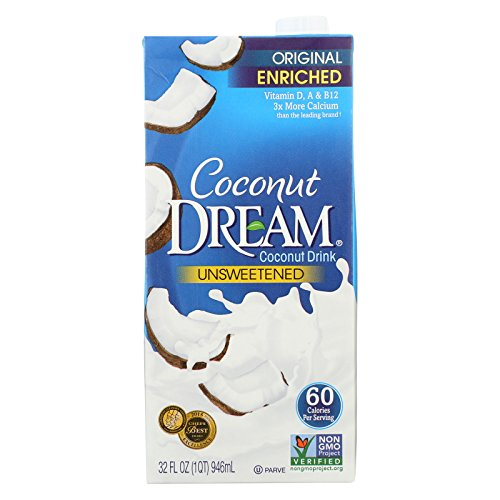 Coconut Dream Enriched Coconut Drink - Original Unsweetened - Case of 12 - 32 Fl oz. by Coconut Dream