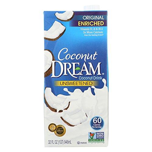 Coconut Dream Enriched Coconut Drink - Original Unsweetened - Case of 12 - 32 Fl oz. by Coconut Dream