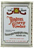 Sun Brand Madras Curry Powder, 16 Ounce Cans (Pack of 4)