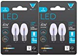 Triangle Bulbs 0.5-Watt C7 LED Night Light Bulb, Clear, 2-Pack (4 bulbs)