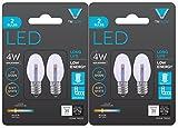 (4 Bulbs) Triangle Bulbs 0.5-Watt C7 LED Night Light Bulb, Clear, 4-Pack