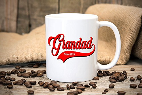 LIZNICE - Personalised Grandad Mug - Gift Mugs - Personalise with Year - custom - New Grandparents - Christmas Gift - Coffee Cup - Tea Cup - Mug MUG ()