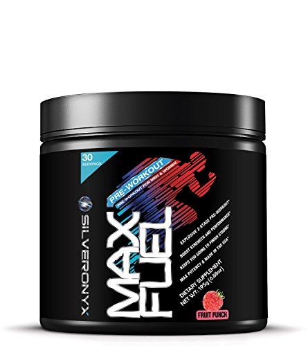 MAX FUEL Pre Workout Powder Intense Energy Drink w/ Nitric Oxide, Beta-Alanine and Caffeine for Fat Burner, Focus and Muscle Pumps - Preworkout Supplement for Men and Women - Fruit Punch, 30 (Pump Burner)