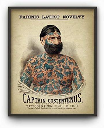Tattoo Man Print Vintage Tattoo Man Tattoo Body Art Tattoo Wall
