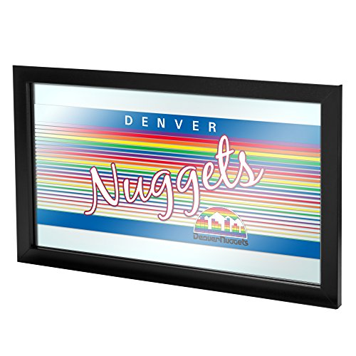 NBA Denver Nuggets Framed Logo Mirror, One Size, ()