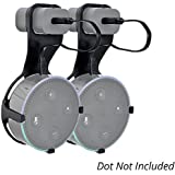 Adika Wall Mount for Dot 2nd Generation(2 pcs Black) - Wall Hanger Cable Holder for Dot 2nd Generation No Drilling Screwless Full Protection Easy Mount Home Accessories