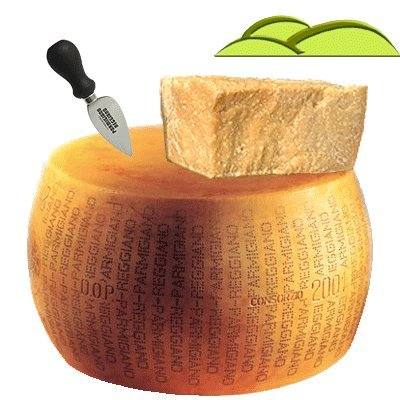 Whole wheel Parmigiano Reggiano PDO, from montain, weight 86 lbs, qualty