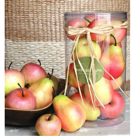 Artificial Apple & Pear In Box by FantasticDecor