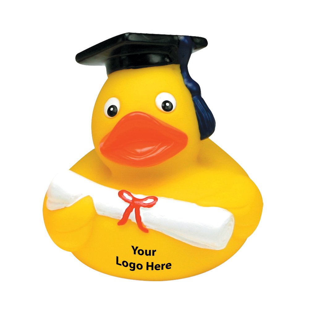 Graduate Rubber Duck - 150 Quantity - $2.75 Each - PROMOTIONAL PRODUCT / BULK / BRANDED with YOUR LOGO / CUSTOMIZED