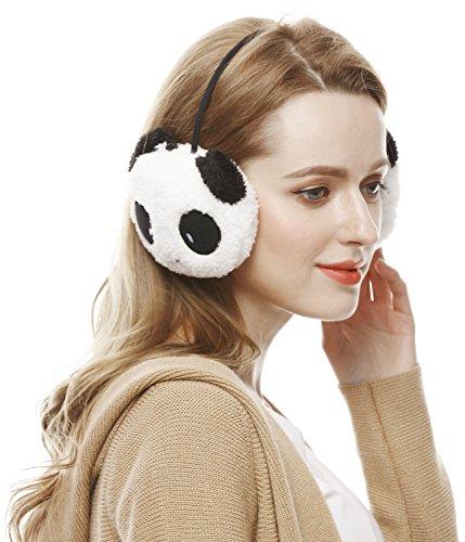 Winter Cute Panda Earmuff Ear Muff Warmer-White - 1