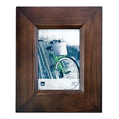 Kiera Grace Broadwood Picture Frame, 5-Inch by 7-Inch, Walnut