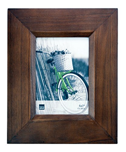 Kiera Grace Broadwood Picture Frame, 5-Inch by 7-Inch, Walnu